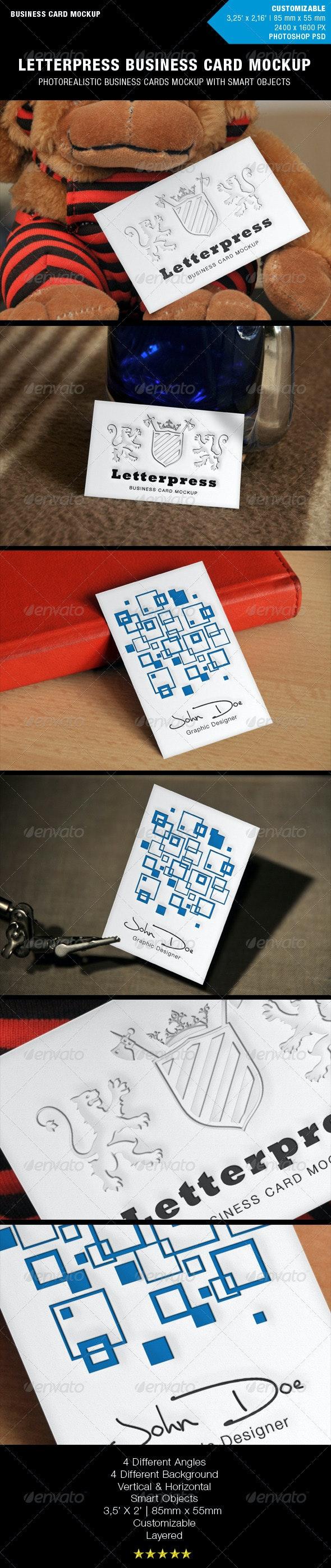 Letterpress Business Card Mockup - Business Cards Print