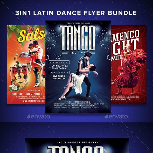 3in1 Latin Dance Flyer Bundle