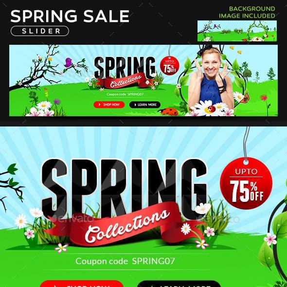 Spring Sale Slider