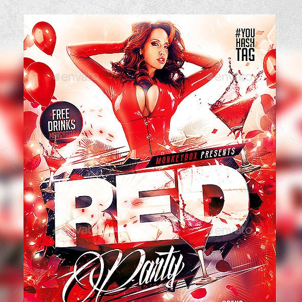 Flyer Red Party Konnekt