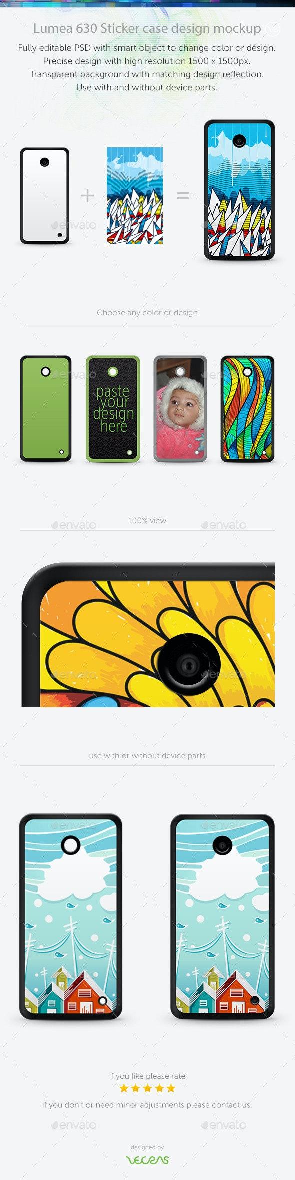 Lumea 630 Sticker Case Design Mockup - Mobile Displays