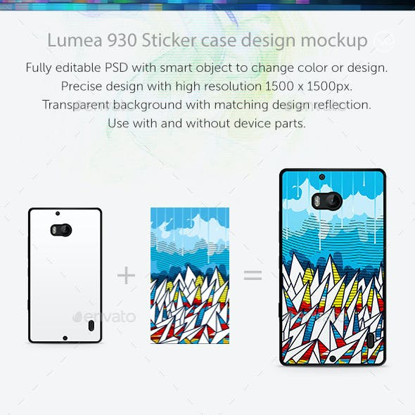 Lumea 930 Sticker Case Design Mockup