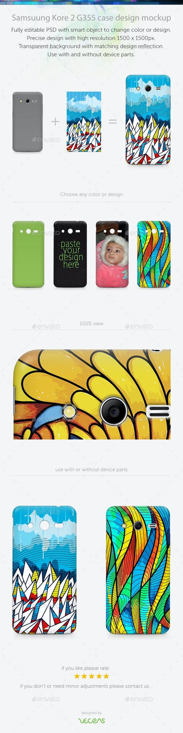 Samsuung Kore 2 G355 Case Design Mockup - Mobile Displays