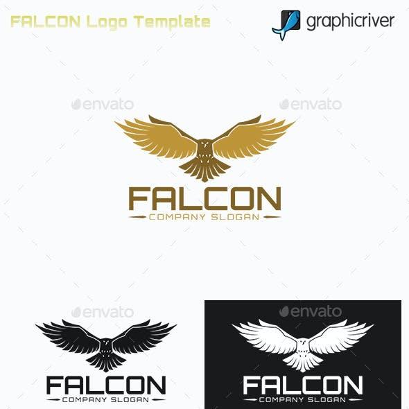 """Falcon """" Bird Logo"""""""