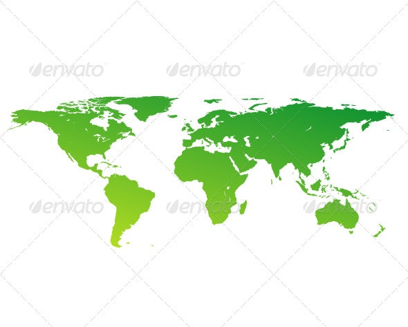 Green world map - Backgrounds Decorative