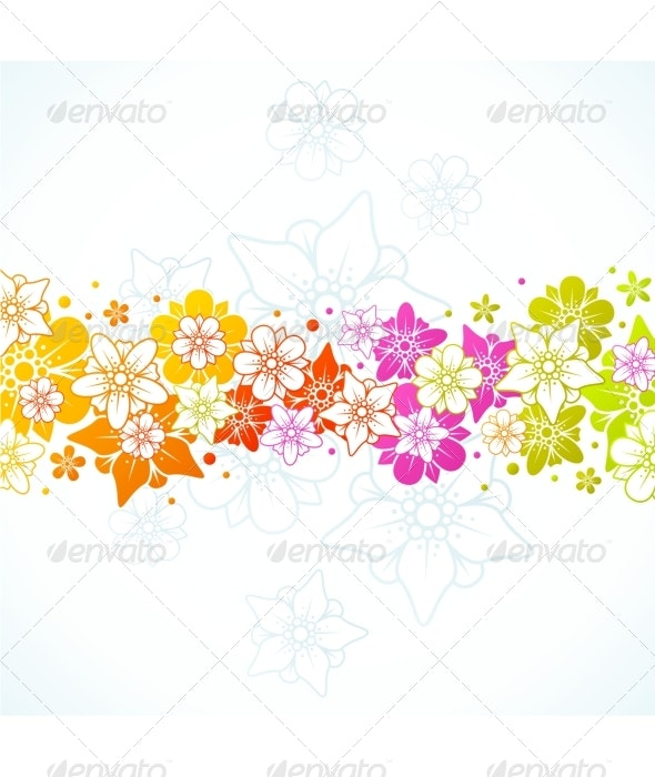 Floral colorful background  - Seasons/Holidays Conceptual