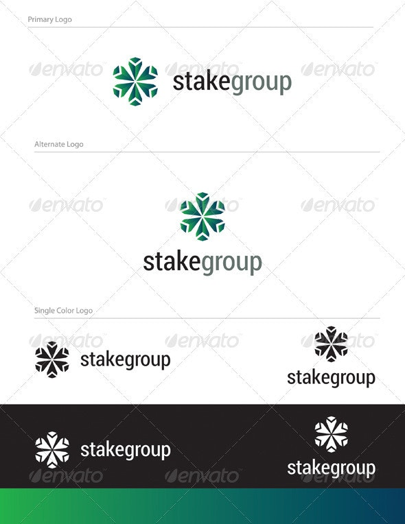 Stake Group Logo Design - ABS-013 - Abstract Logo Templates