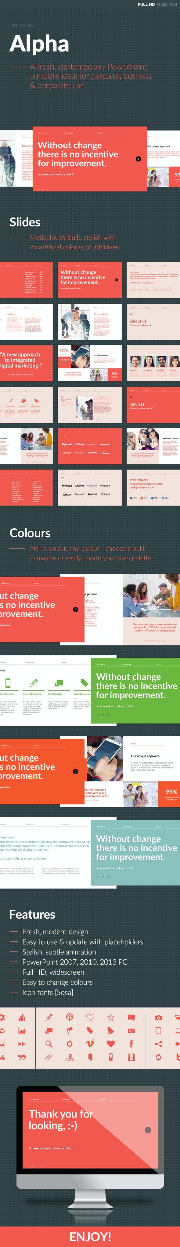 Alpha PowerPoint Template - PowerPoint Templates Presentation Templates