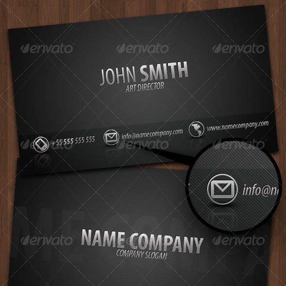 Business Card Dark Metal