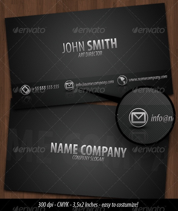 Business Card Dark Metal - Creative Business Cards