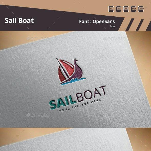 Sail Boat Logo Template