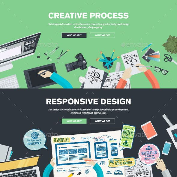 Flat Design Concepts for Graphic and Web Design
