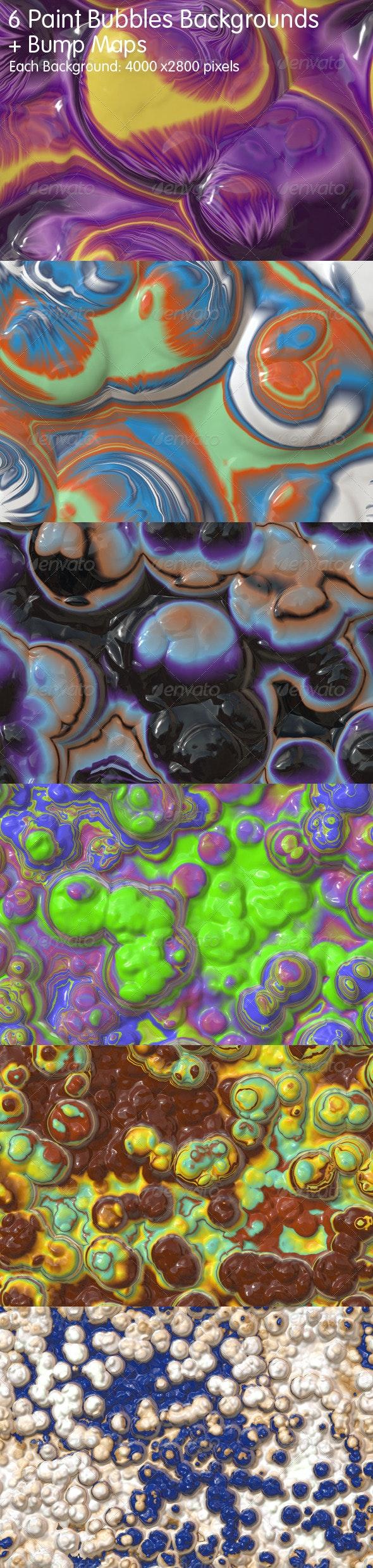 6 Paint Bubbles Backgrounds - Set #1 - Abstract Backgrounds