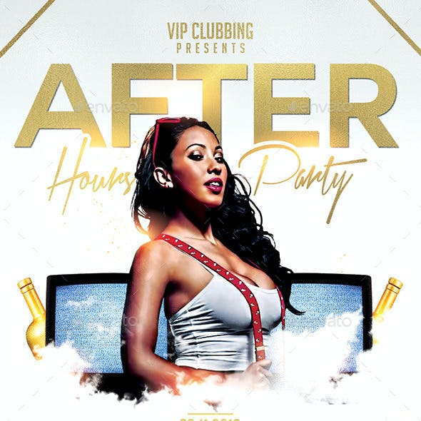 After Hours Party   Night Flyer PSD Template