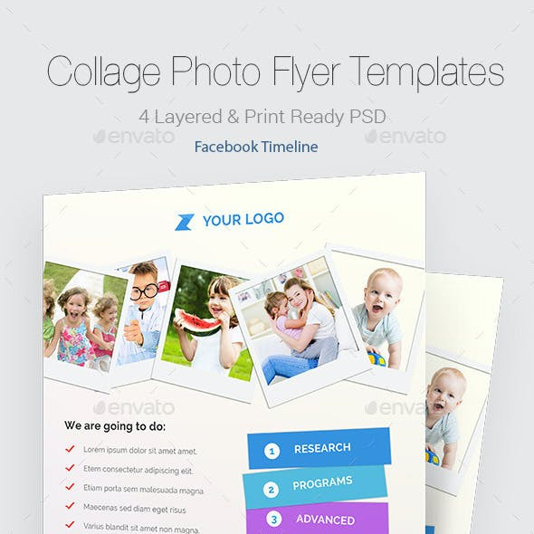 Collage Photo Flyers & Facebook Timeline