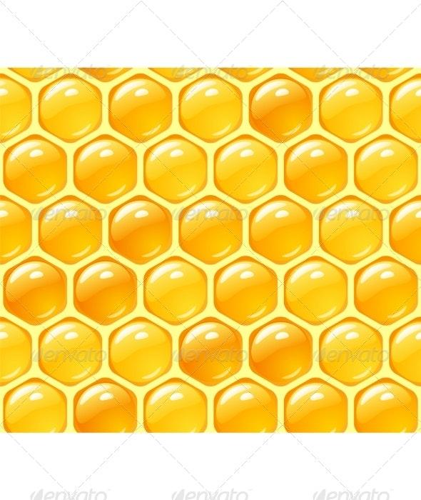 Vector honey background - Backgrounds Decorative