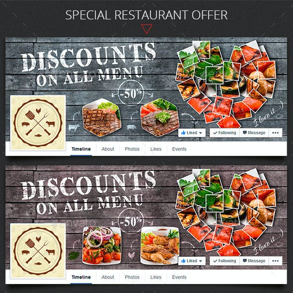 Special Restaurant Offer Facebook Timeline Cover