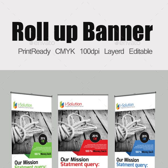 Roll Up Business Banners Template