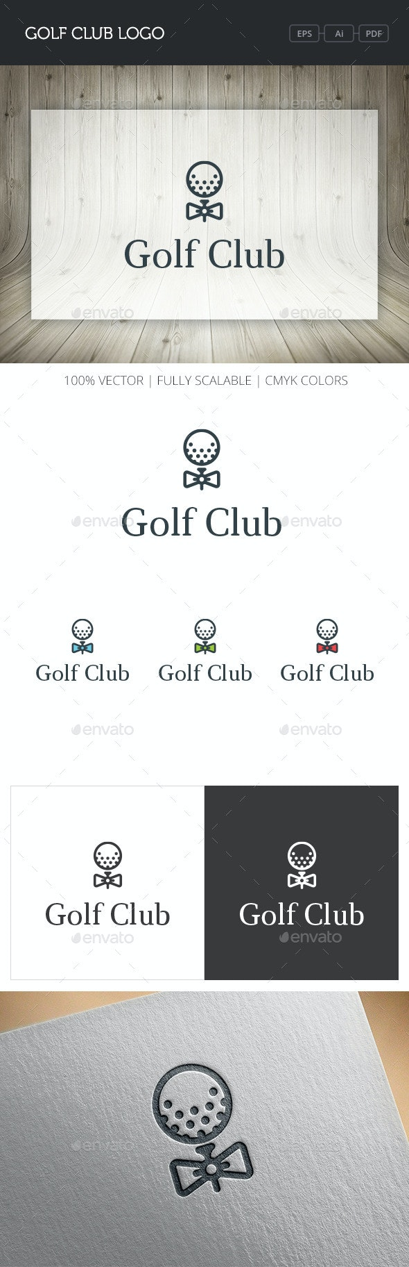 Golf Club Logo - Objects Logo Templates