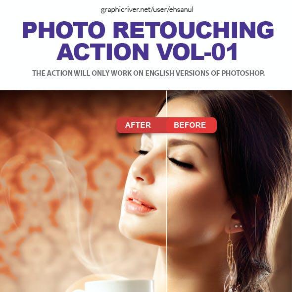Photo Retouching Photoshop Action Vol-01