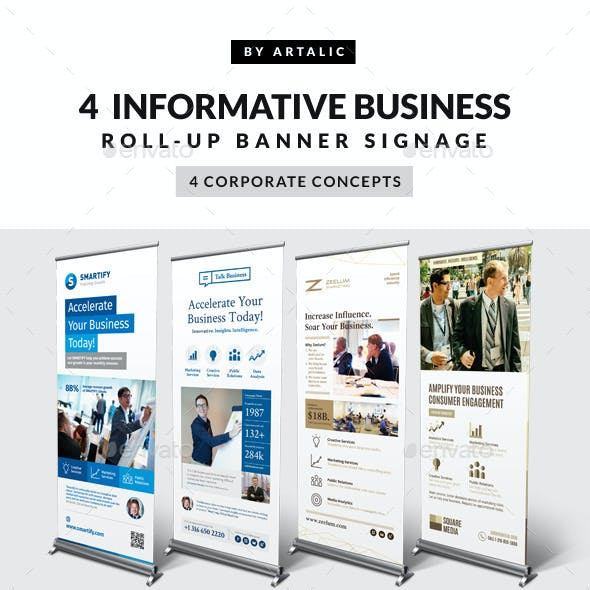 4 Corporate Business Roll-up Banners