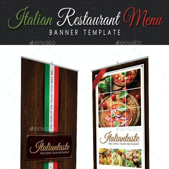 Italian Restaurant Menu Banner Template