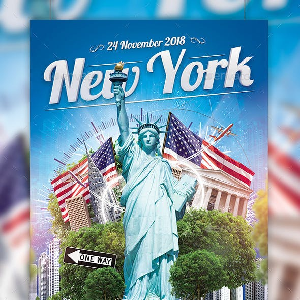New York Party Flyer Template