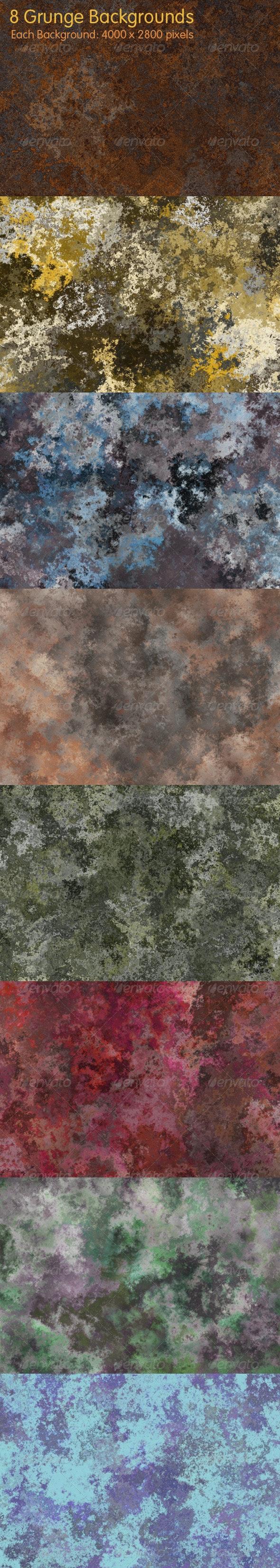8 Grunge Backgrounds - Industrial / Grunge Textures