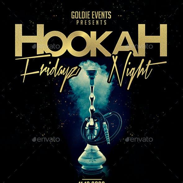 Hookah Fridayz Night | Party PSD Flyer Template