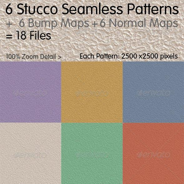 6 Stucco Seamless Patterns