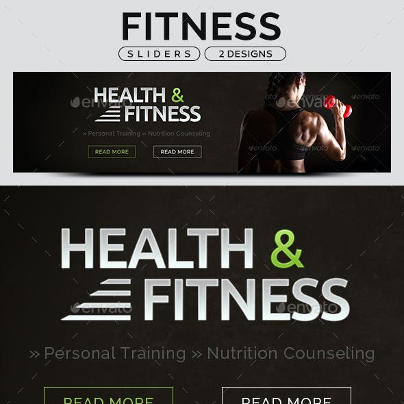 Fitness Sliders - 2 Designs