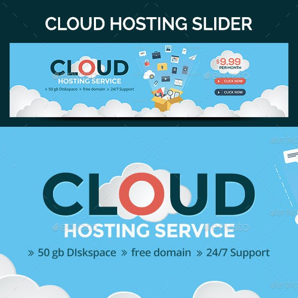 Cloud Hosting Slider