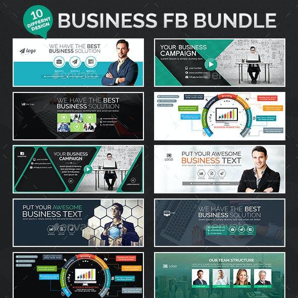 Business Facebook Bundle - 10 Different Designs