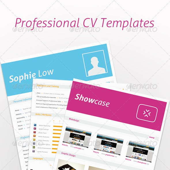 5 Colors CV Resume Portfolio