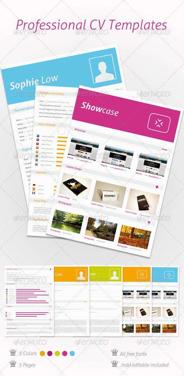 5 Colors CV Resume Portfolio - Miscellaneous Print Templates