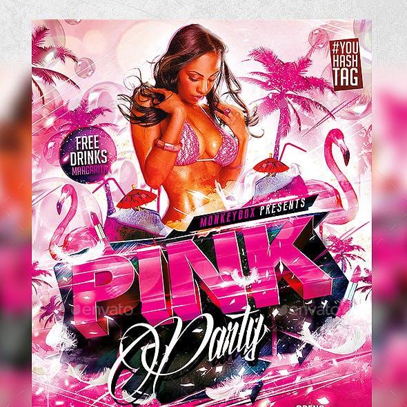 Flyer Pink Party Konnekt