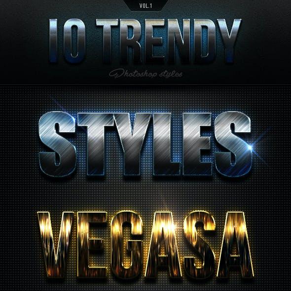 10 Trendy Photoshop Styles Vol.1