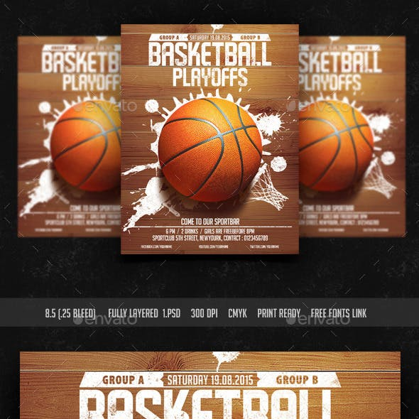 Basket Ball Playoffs Flyer