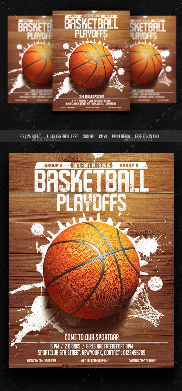 Basket Ball Playoffs Flyer - Sports Events