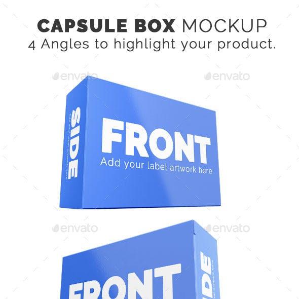 3D Pill Capsule Box Mockup