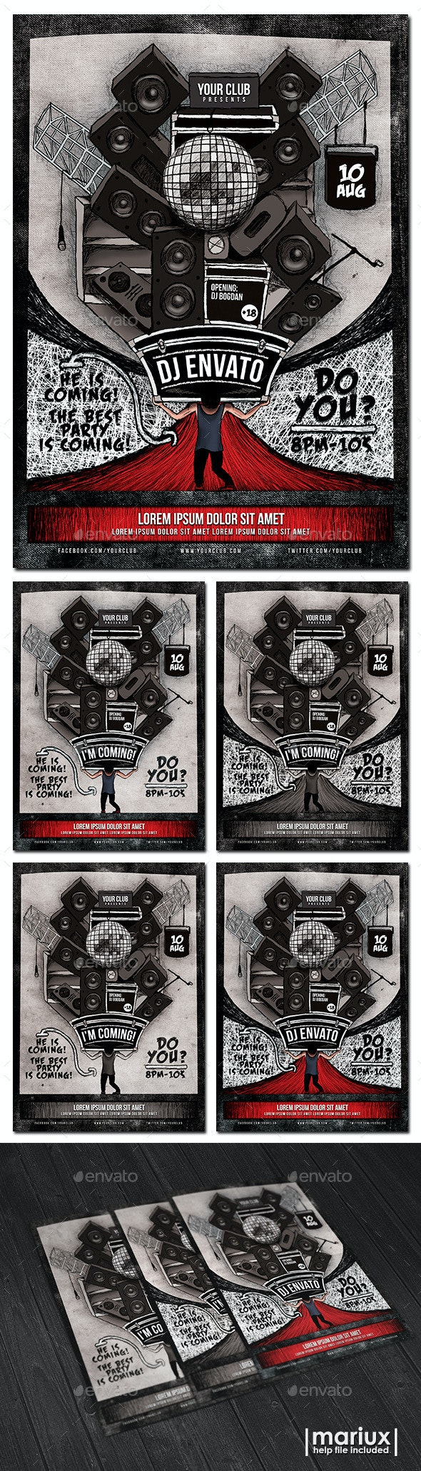 Guest DJ Flyer Poster - Clubs & Parties Events