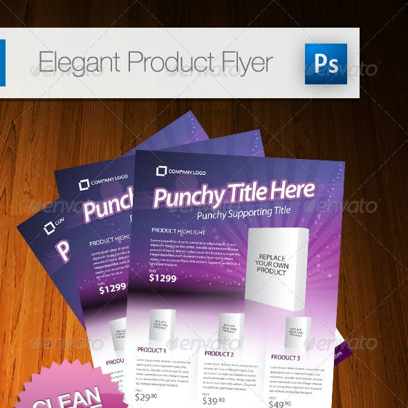 Elegant Product Flyer - A4