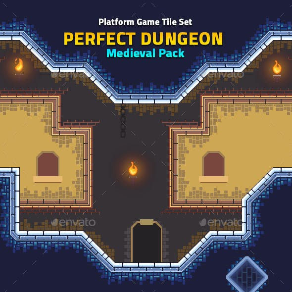 Perfect Dungeon Tile Set Medieval Pack