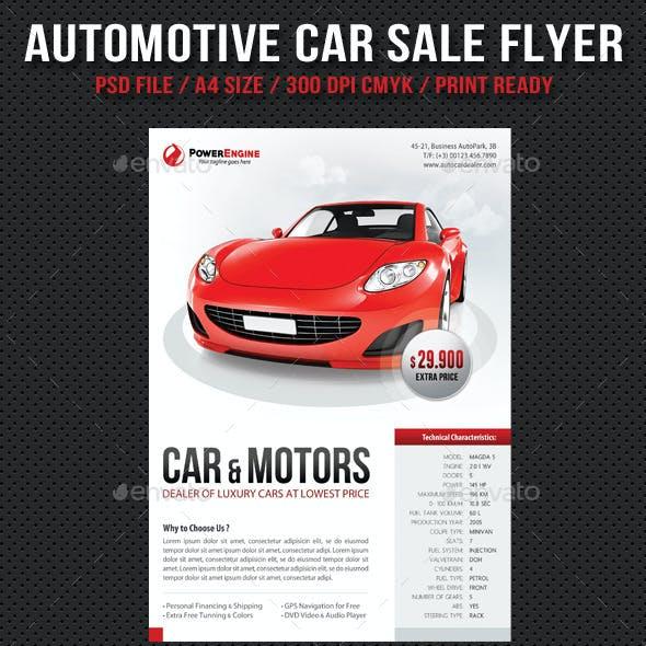 Automotive Car Sale Rental Flyer