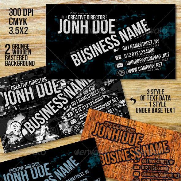 Grunge Plus Business Card