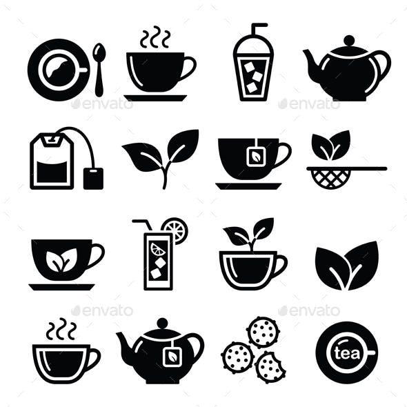 Tea and Ice Tea Icons Set