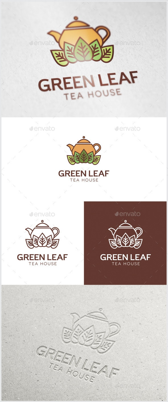 Green Leaf Tea Logo - Food Logo Templates