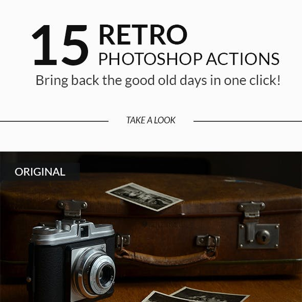 15 Retro Vintage Photoshop Actions