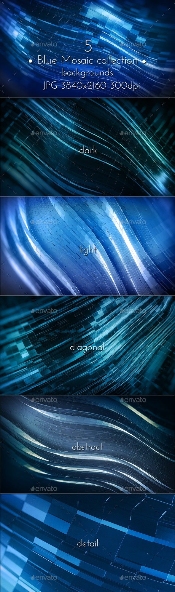 Dark Blue Background - Abstract Backgrounds