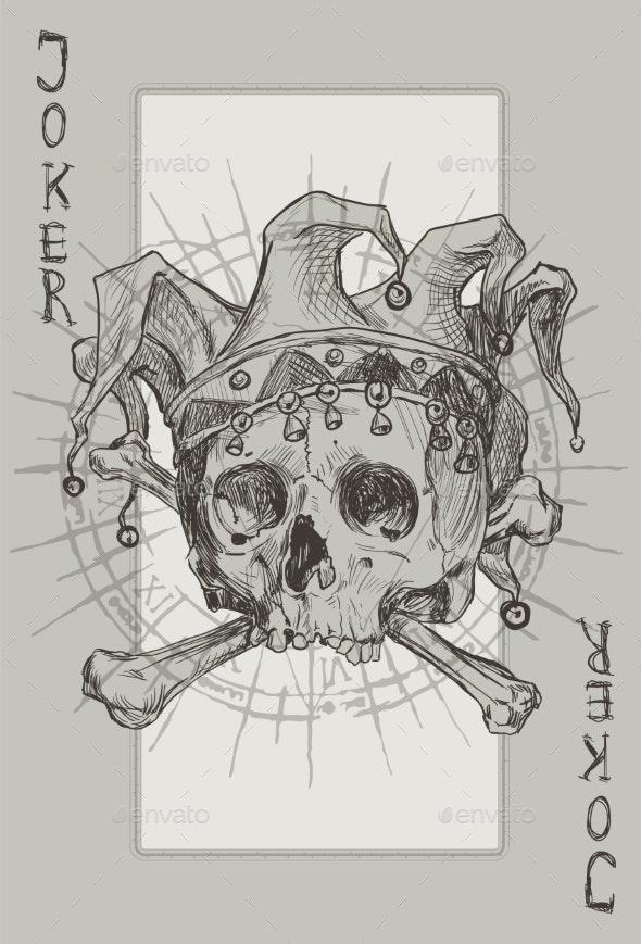 Joker Skeleton - Tattoos Vectors